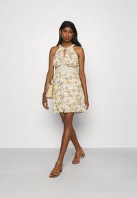 Vila - VIMILINA FLOWER DRESS - Cocktail dress / Party dress - sandshell - 1