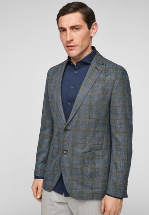 SLIM FIT - Suit jacket - dark blue check