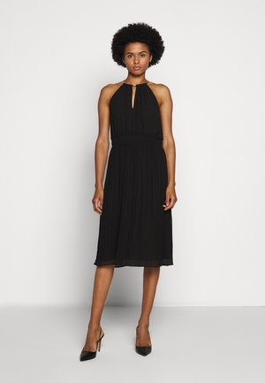 CHAIN NECK MIDI DRESS - Cocktail dress / Party dress - black