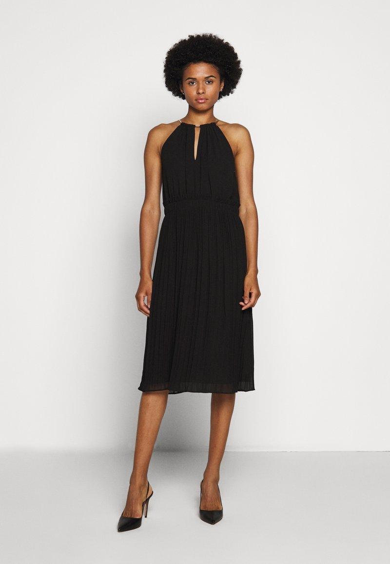 MICHAEL Michael Kors - CHAIN NECK MIDI DRESS - Cocktail dress / Party dress - black