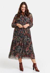 Samoon - MIT PAISLEY-PRINT - Day dress - black gemustert - 1