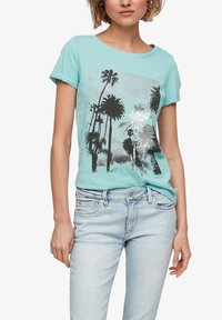 Q/S designed by - Print T-shirt - turquoise - 3