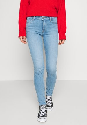 SCARLETT HIGH - Jeansy Skinny Fit - light-blue denim