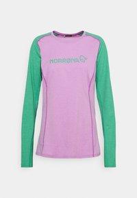 Norrøna - FJØRÅ EQUALISER LIGHTWEIGHT LONG SLEEVE - T-shirt à manches longues - violet tuille/arcadia - 0