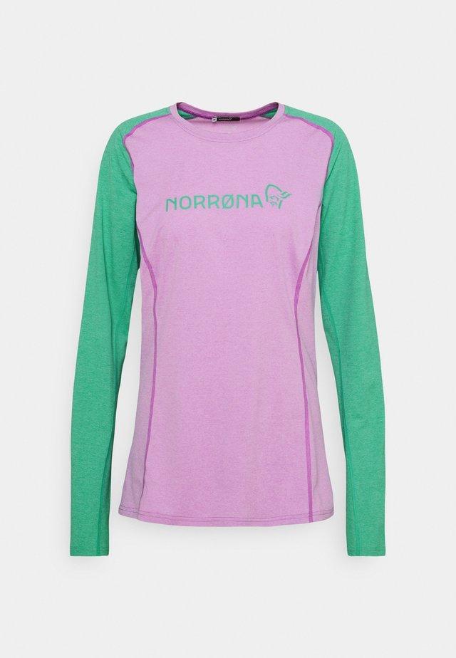 FJØRÅ EQUALISER LIGHTWEIGHT LONG SLEEVE - T-shirt à manches longues - violet tuille/arcadia