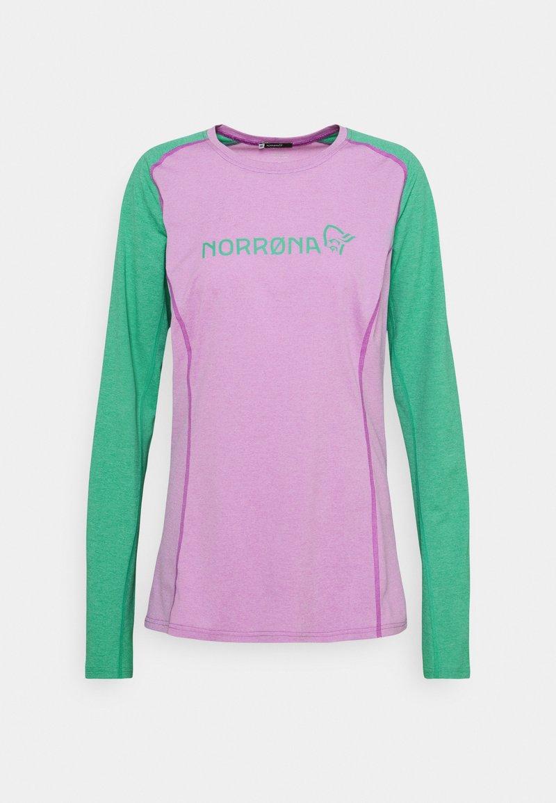 Norrøna - FJØRÅ EQUALISER LIGHTWEIGHT LONG SLEEVE - T-shirt à manches longues - violet tuille/arcadia