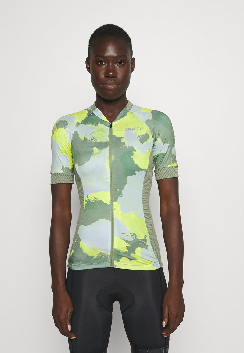 Craft - ENDUR GRAPHIC  - Cycling Jersey - forest/sulfur