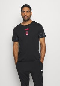 Puma - AC MAILAND CULTURE TEE - Club wear - puma black/tango red - 0