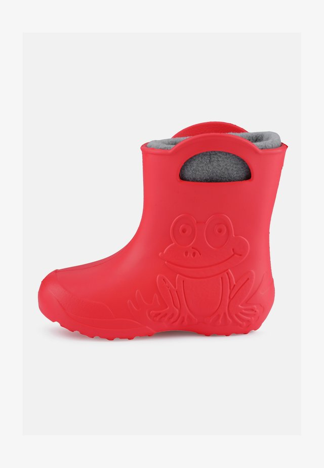 Wellies - coral/grey