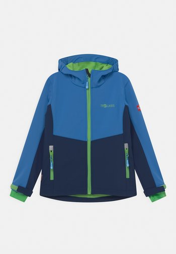 KRISTIANSAND UNISEX - Soft shell jacket - navy/medium blue/green