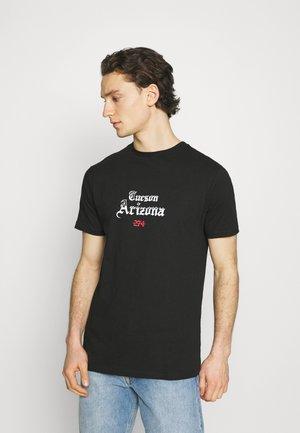 CACTUS FLAME TEE - Print T-shirt - black