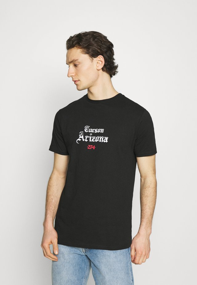 CACTUS FLAME TEE - T-shirt con stampa - black