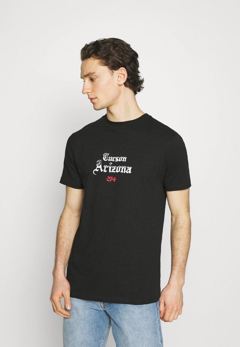 274 - CACTUS FLAME TEE - Print T-shirt - black