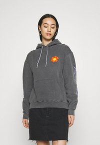 BDG Urban Outfitters - HAVE A NICE DAY HOODIE - Sweatshirt - washed black - 2