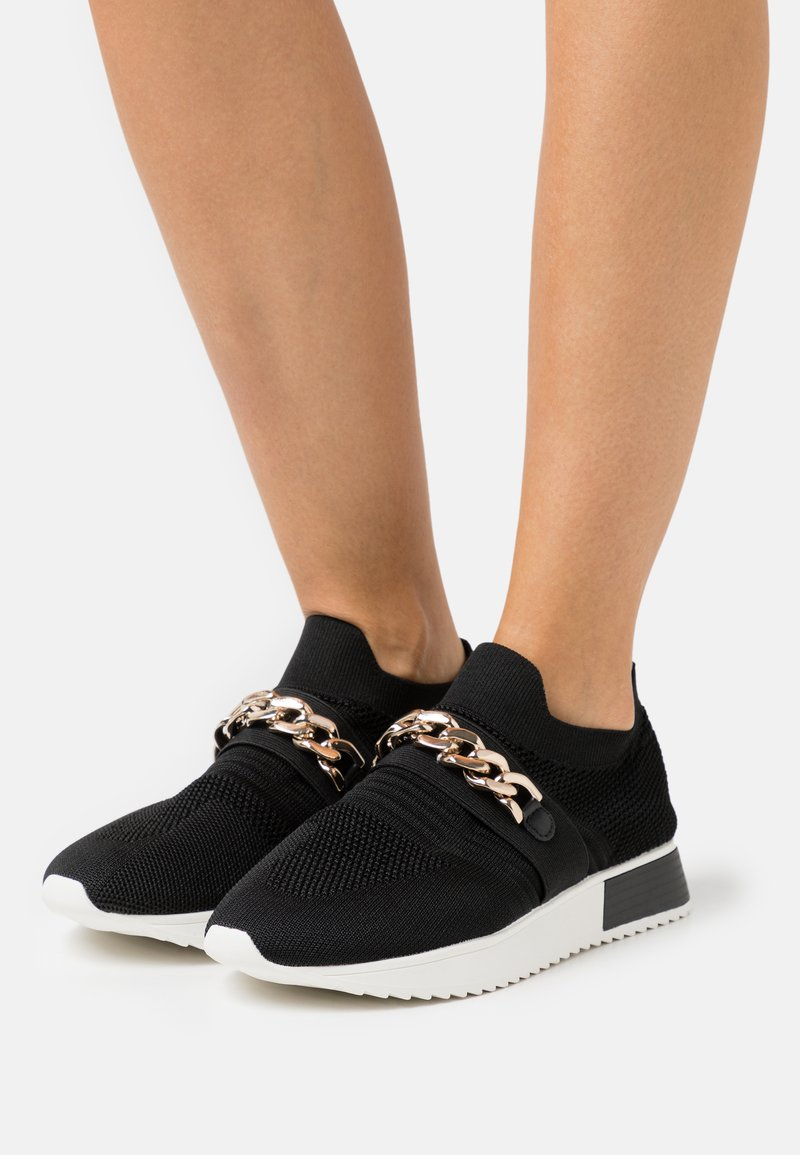 River Island Wide Fit - Sneakers laag - black