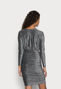 ONLY - ONLDARLING WRAP GLITTER DRESS - Cocktail dress / Party dress - black/silver - 2