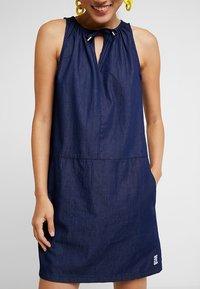 Q/S designed by - Denim dress - dark blue denim - 3