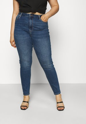 PCKESIA MOM - Jeans Skinny Fit - dark blue denim
