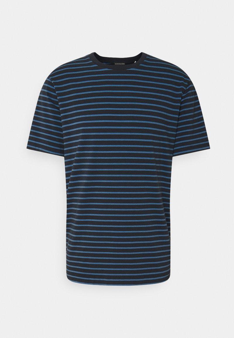 Scotch & Soda - CLASSIC CREWNECK - Print T-shirt - dark blue/blue
