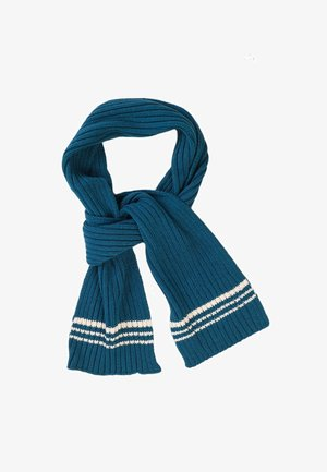Sjaal - turquoise/white