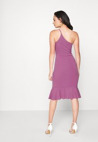WAL G. - FRILL HEM MIDI DRESS - Cocktailjurk - mauve pink - 2
