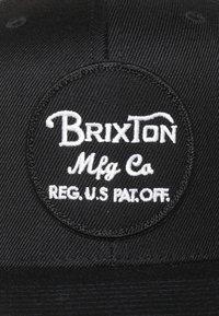 Brixton - WHEELER SNAP BACK - Kšiltovka - black - 5