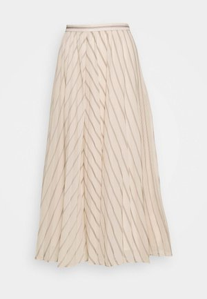 PLEATED MIDI STRIPE - Pleated skirt - multicoloured