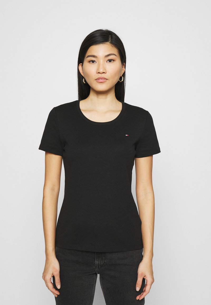 Tommy Hilfiger - SLIM ROUND NECK - Basic T-shirt - black