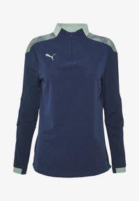 Puma - FTBLNXT 1/4 ZIP - Sports shirt - dark denim/mist green - 4