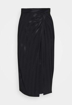 GALENE - Pencil skirt - jet black