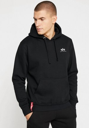 BASIC HOODY SMALL LOGO - Luvtröja - black