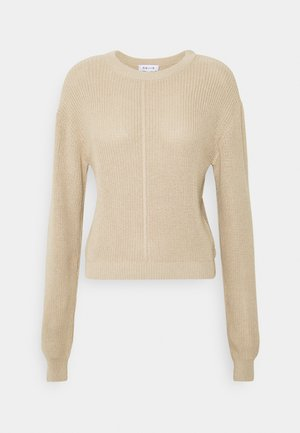 SEAM DETAIL CREW NECK JUMPER - Strikkegenser - beige