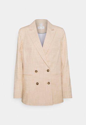 GIRLFRIEND FIT - Short coat - sand/white