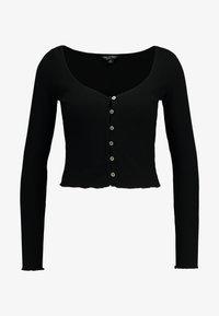 Miss Selfridge - SKINNY  - T-shirt à manches longues - black - 3
