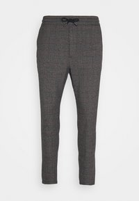 Only & Sons - ONSLINUS CROP CHECK PANTS - Trousers - grey melange - 4