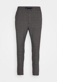 ONSLINUS CROP CHECK PANTS - Trousers - grey melange