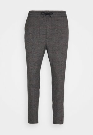 ONSLINUS CROP CHECK PANTS - Kangashousut - grey melange