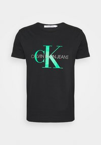 Calvin Klein Jeans - SEASONAL MONOGRAM TEE - Camiseta estampada - black/andean toucan - 4