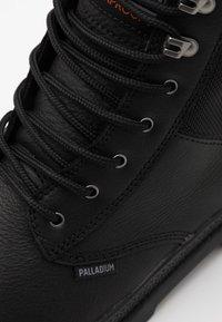 Palladium - PAMPA SHIELD WP - Šněrovací kotníkové boty - black - 5