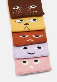 Monki - MONKI FACES 5 PACK - Socken - yellow/multi-coloured - 1