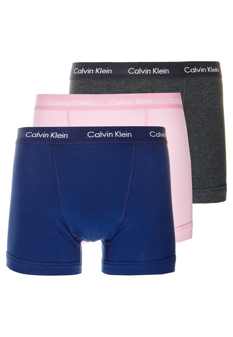 Calvin Klein Underwear - TRUNK 3 PACK - Pants - blue