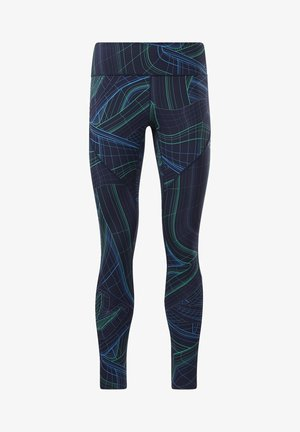 LUX PERFORM TECHNICAL TWIST LEGGINGS - Tights - blue