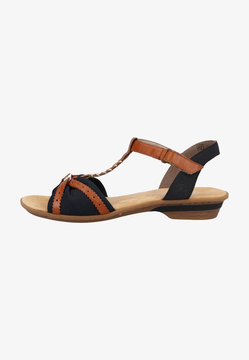 Rieker - Sandals - pazifik/cayenne