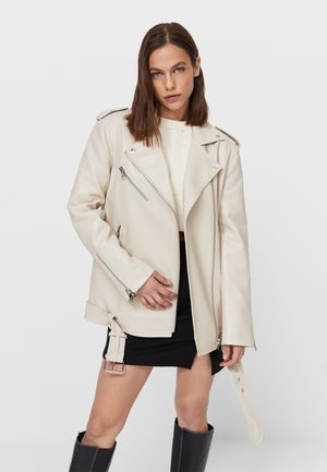 Giacca in similpelle - beige