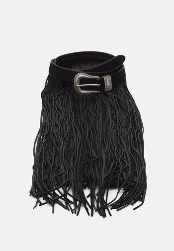 TEXAS FRINGES BELT - Waist belt - nero
