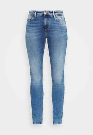 KAJ HIGH RISE CROPPED - Jeansy Skinny Fit - multi/mid blue used