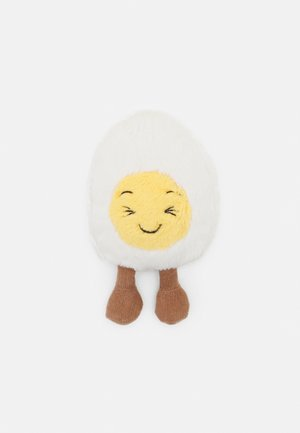 BOILED EGG LAUGHING - Cuddly toy - white