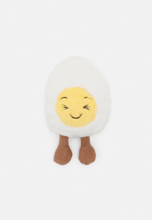 BOILED EGG LAUGHING - Pehmolelu - white