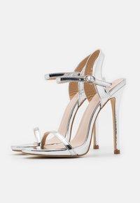 BEBO - SPARRA - High heeled sandals - silver metallic - 2