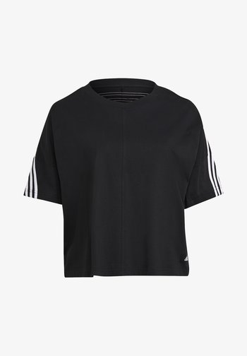AGRAVIC PARLEY PRIMEBLUE SHIRT TRAIL RUNNING - Print T-shirt - black/white